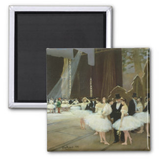 In the Wings at the Opera House, 1889 2 Inch Square Magnet
