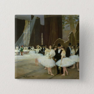In the Wings at the Opera House, 1889 Pinback Button