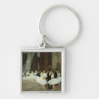 In the Wings at the Opera House, 1889 Silver-Colored Square Keychain