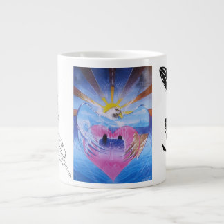 In the wings of love large coffee mug