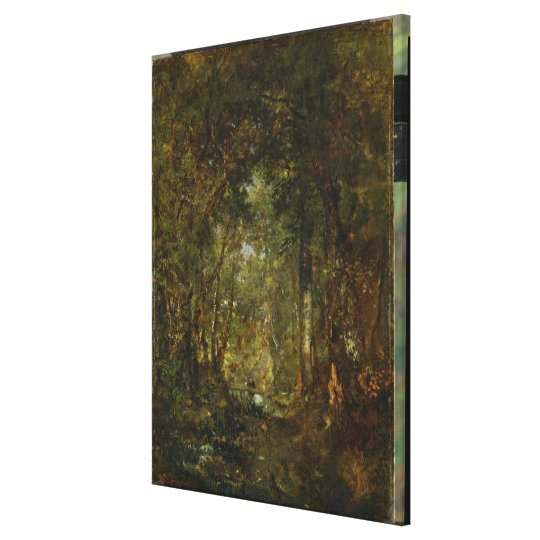 In the Wood at Fontainebleau Canvas Print