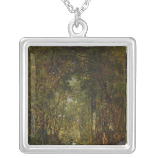 In the Wood at Fontainebleau Silver Plated Necklace