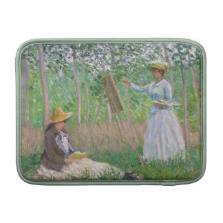 In the Woods at Giverny - Claude Monet Sleeves For MacBook Air