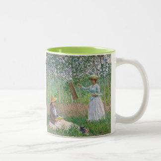 In the Woods at Giverny - Claude Monet Two-Tone Coffee Mug
