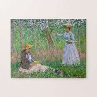 In the Woods at Giverny Monet Fine Art Jigsaw Puzzle