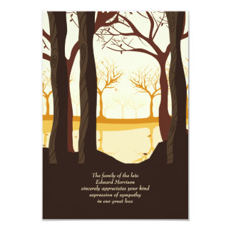 In The Woods Bereavement Thank You Card