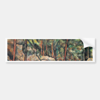 In The Woods By Paul Cézanne (Best Quality) Car Bumper Sticker
