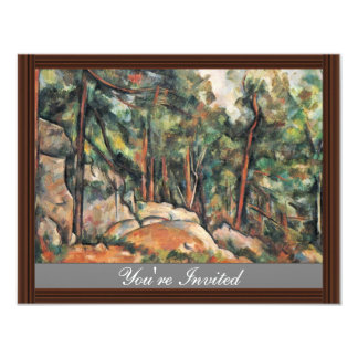 In The Woods By Paul Cézanne (Best Quality) Invitations