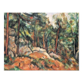 In The Woods By Paul Cézanne (Best Quality) Personalized Announcement