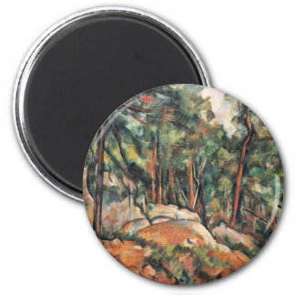 In The Woods By Paul Cézanne (Best Quality) Magnet