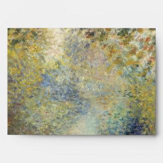 In the Woods by Pierre-Auguste Renoir Envelope