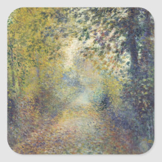 In the Woods by Pierre-Auguste Renoir Square Sticker