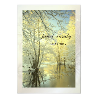 In the Woods, Winter  Wedding Invitations