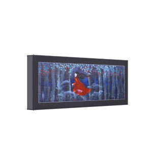 In The Woods With Animal Spirits. Gallery Wrap Canvas