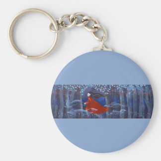 In The Woods With Animal Spirits. Keychain