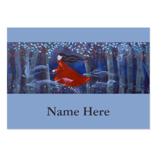 In The Woods With Animal Spirits. Large Business Card