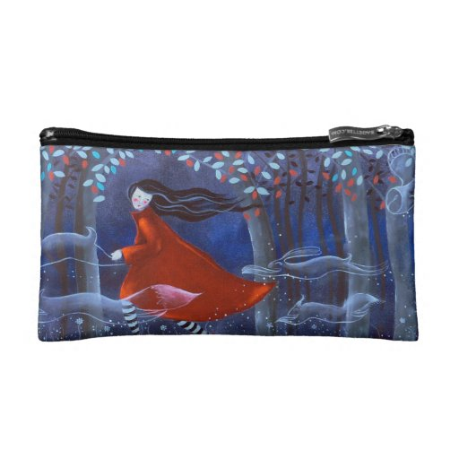 In The Woods With Animal Spirits. Makeup Bag