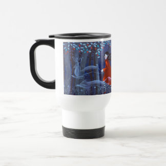 In The Woods With Animal Spirits. Travel Mug