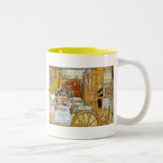In the Workshop with Mom Two-Tone Coffee Mug