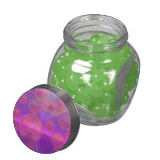 In the Zone, Abstract Rose & Amethyst Voyage Jelly Belly Candy Jars