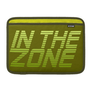 IN THE ZONE custom MacBook sleeve