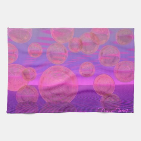 In the Zone – Rose & Amethyst Voyage Kitchen Towel