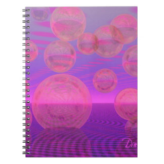 In the Zone – Rose & Amethyst Voyage Spiral Note Book