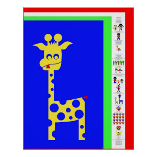 In the Zoo with Sam and Lucca - in Italian Print