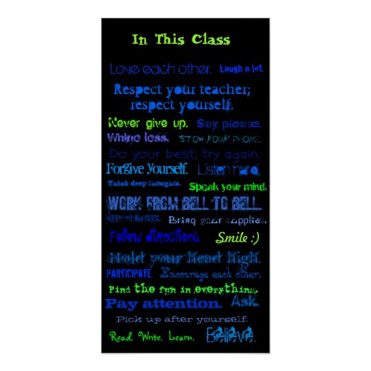 In This Class, Love each other., Laugh a lot., ... Poster