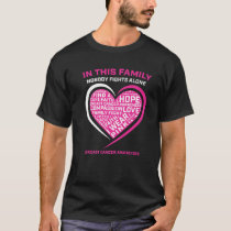 In This Family Nobody Fights Alone Breast Cancer A T-Shirt