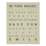 In This House - Family Rules Poster
