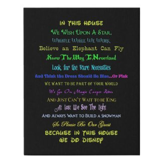 In This House Faux Canvas Print