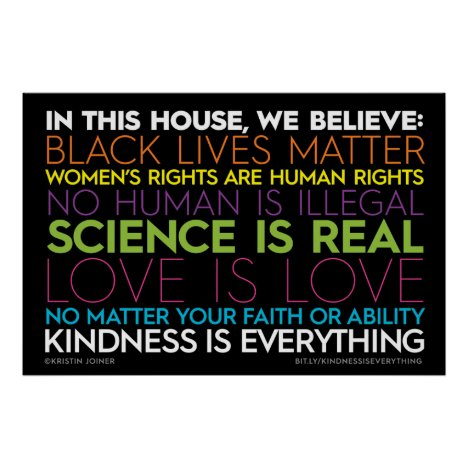 In This House... Kindness Is Everything Sign