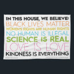 "&quot;In This House&quot; kitchen towel<br><div class=""desc"">Let your guests know that in your house... </div>"