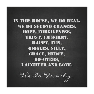 In this House We Do Family Quote Print