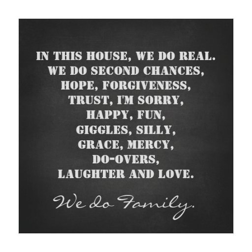 In this House We Do Family Quote Print Stretched Canvas Print