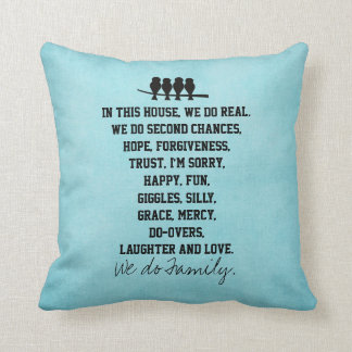 In this House We Do Family Quote Throw Pillow