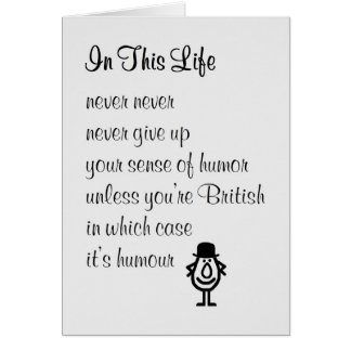 In This Life - a funny get well soon poem Card