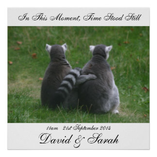 In this moment, time stood still - Lemur Love Poster