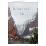In This Time of Loss Photo Template Sympathy Card