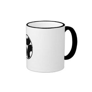 In thread wheel three dividing bull's eyes mug