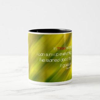 in-three-words Two-Tone coffee mug