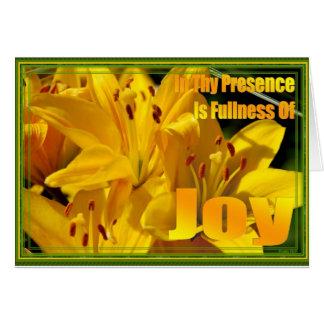 In Thy Presence is Fullness of Joy Card