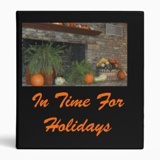 In Time For Holidays Binder