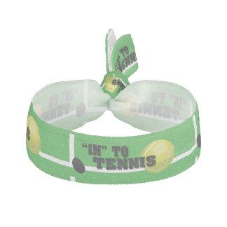 In to tennis ribbon hair ties