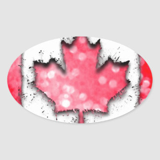 in to the sky, Canada Oval Sticker