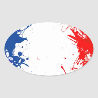 in to the sky, france oval sticker