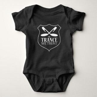 In Trance We Trust - Black Baby Bodysuit