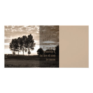 In trees grown tall personalized photo card