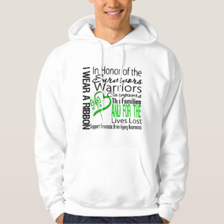 In Tribute Collage Traumatic Brain Injury Hooded Sweatshirt